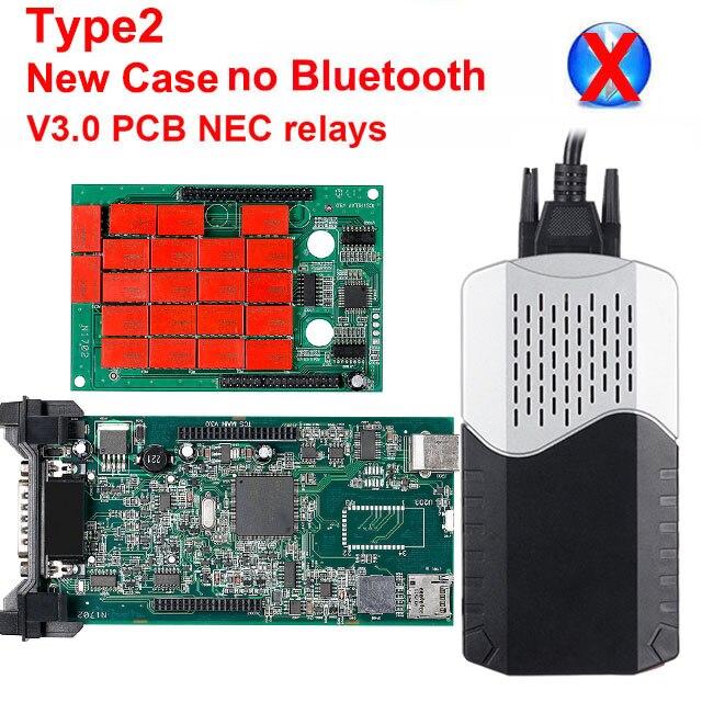 CDP TCS multidiag pro Bluetooth. R0 keygen V3.0 реле NEC obd2 сканер автомобилей грузовиков OBDII диагностический инструмент с автомобильными кабелями - Цвет: New CDP TCS NO BT