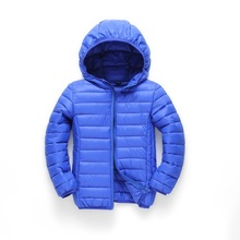 2016 Winter Children's Jackets For Boys & Girls Outerwear Parkas Coat Fashion Hooded Solid Warm Wadded Jacket Overcoat110-150