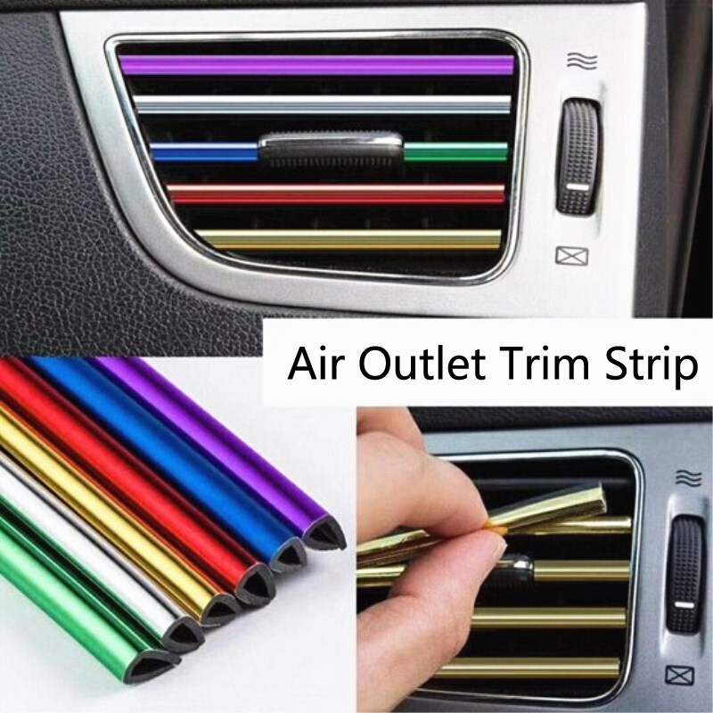U Shape Car Interior Air Vent <font><b>Grille</b></font> Outlet Blade Decoration Strip For <font><b>Mercedes</b></font> Benz W202 W220 W204 <font><b>W210</b></font> W124 W222 X204 AMG CLK image