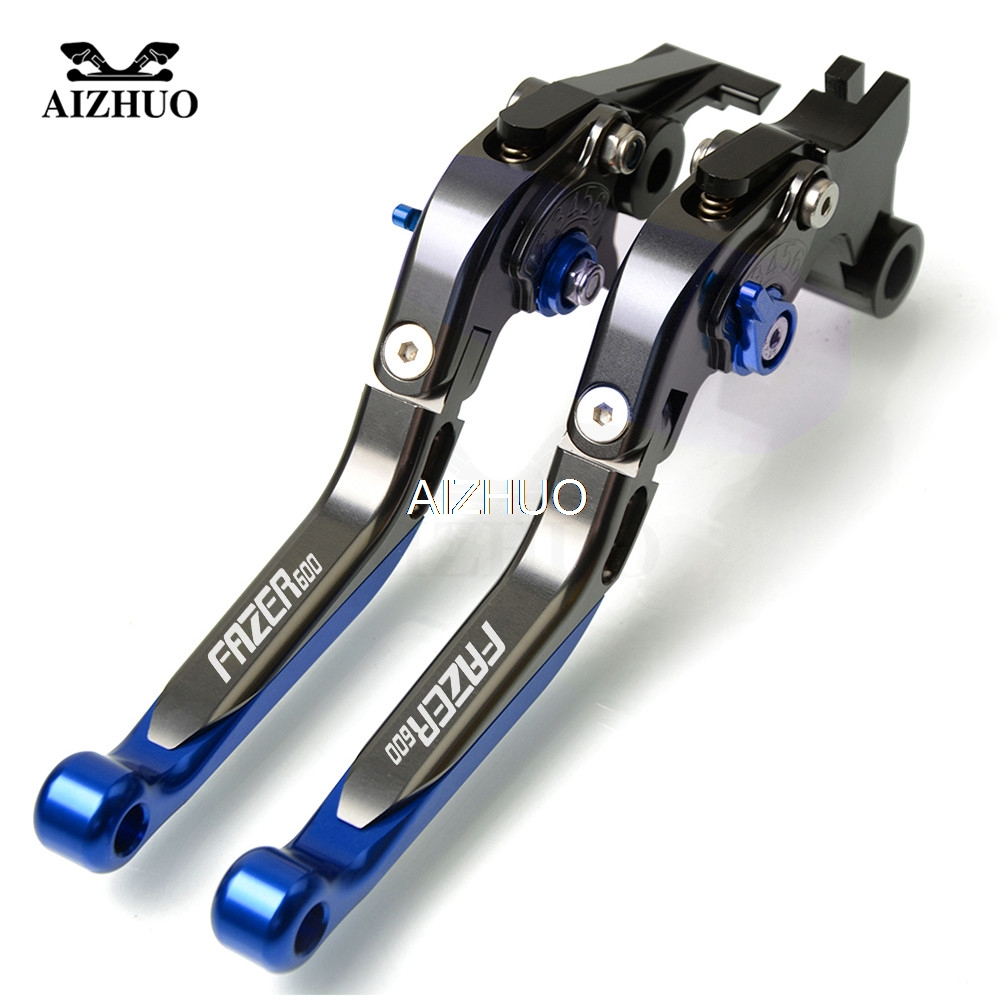 CNC Motorcycle Brake Clutch Lever Folding Extendable For <font><b>YAMAHA</b></font> FAZER600 FZ6S FZ6N <font><b>FAZER</b></font> <font><b>600</b></font> 1998-2003 1999 <font><b>2000</b></font> 2001 2002 2003 image