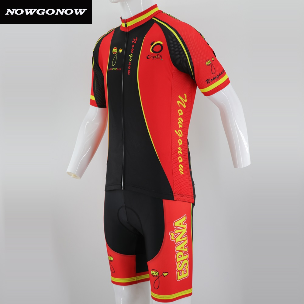 74c8dd966 Man NOWGONOW bike wear 2018 la spain red black cycling jersey clothing pro  team racing riding