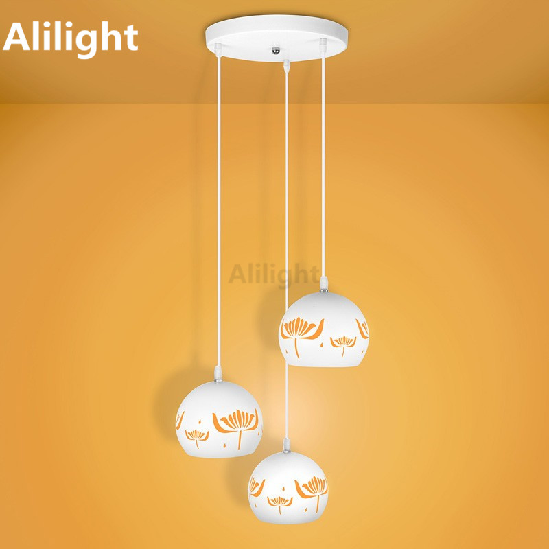 Modern Personlize Pendant Lights Hollow Adjustable Length Led Lamp For Dining Living Room Kitchen Hanging