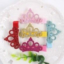 Блестящая корона и шпилька для лент сочетание различных материалов сшивание заколка для девочек аксессуары для волос для детей заколки