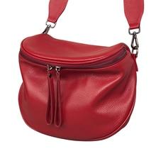 Bolso cruzado de piel auténtica para mujer, bandolera de lujo, a la moda, bolso de mano