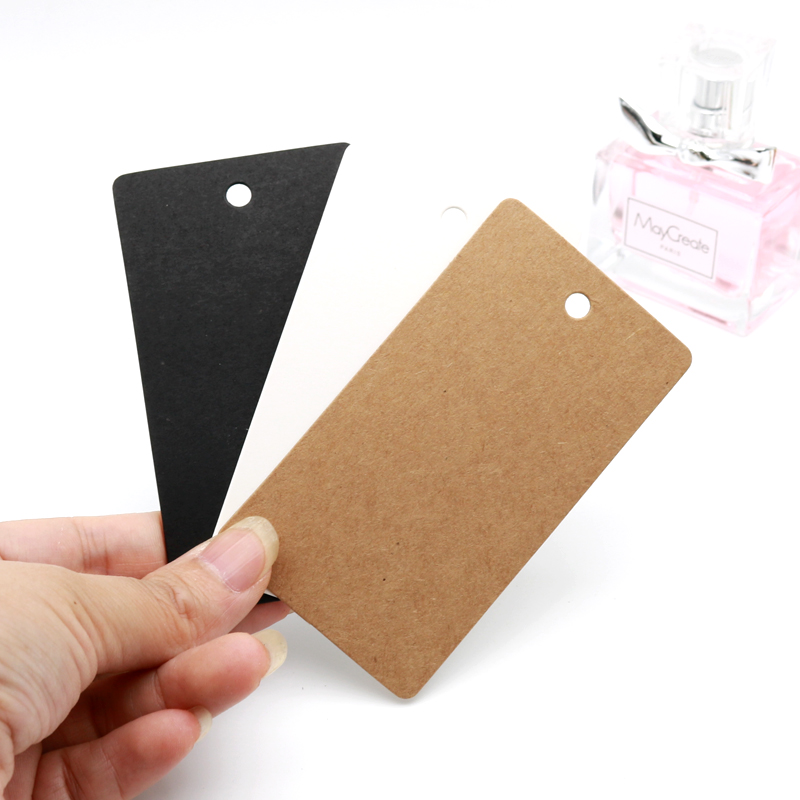 Hot Sale 20pcs/lot 5x9cm Rectangle Paper Cards Blank Kraft Clothing Price Tags Jewelry Gifts Hang Tags Cute Label Cards