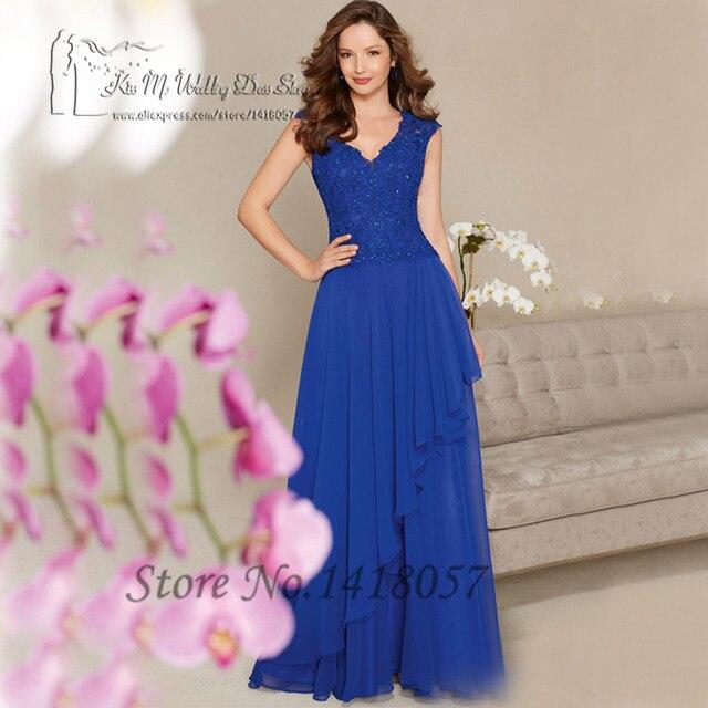Korallen Royal Blue Frauen Formale Kleider Lange Abendkleider Perlen ...