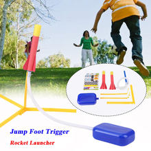 Foam Jump Rocket Launcher Jump Foot Trigger With 2 Darts Kids Outdoor Activity Play Toy Set Child Early Eduction Intelligent Toy(China)