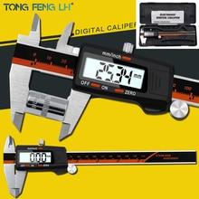 Цифровой штангенциркуль 6 дюймов 0-150 мм нержавеющая сталь Электронный штангенциркуль микрометр глубина измерительные инструменты