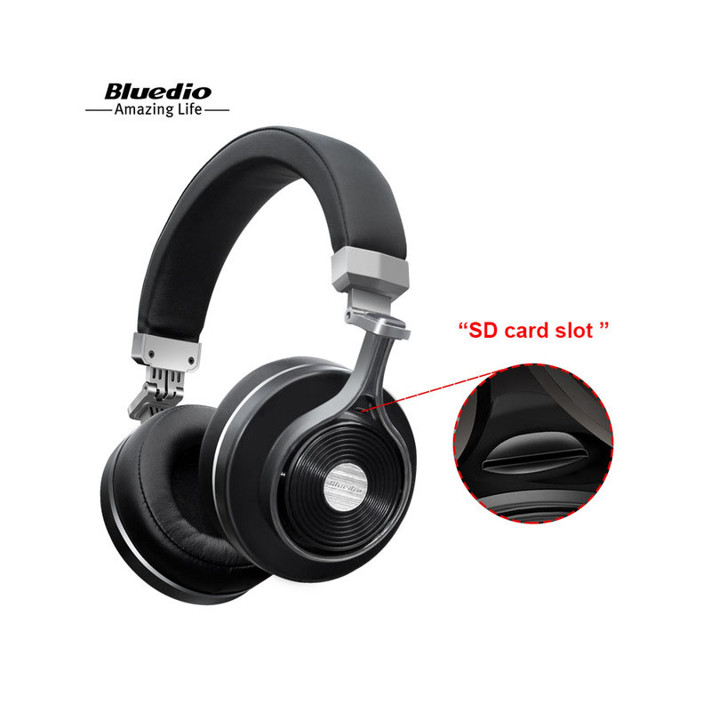 Bluedio T3+ Bluetooth headphones deep bass wireless headset with sd card slot and microphone for music and phone bluedio t3 plus wireless bluetooth headphones headset with microphone micro sd card slot bluetooth headphone headset