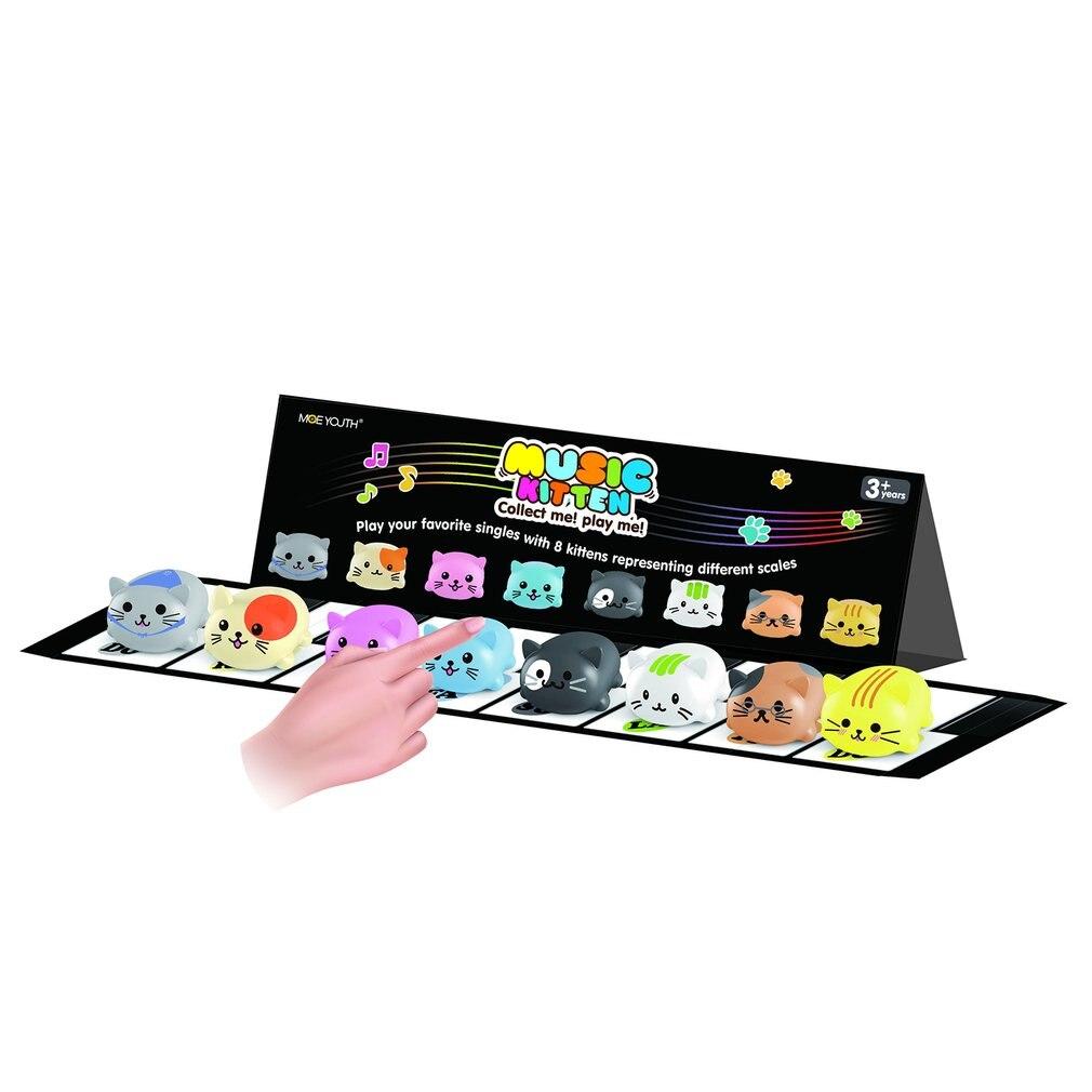 8 pièces/ensemble bébé enfants jouet échelle musicale tactile sensible chat chien électrique joueur Piano drôle Silicone animaux jouet éducatif