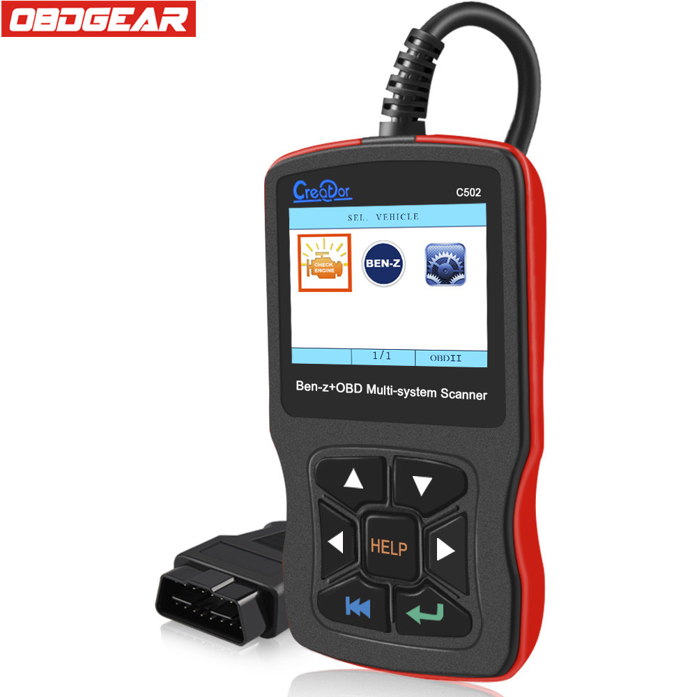 Multi-system Creator C502 OBD2 Automotive Scanner For Mercedes benz w211 w124 w212 ABS SRS Oil EPB Reset Auto Diagnostic Tool free shipping airbag reset tool for benz sbc tool w211 r230 abs sbc tool mb sbc system