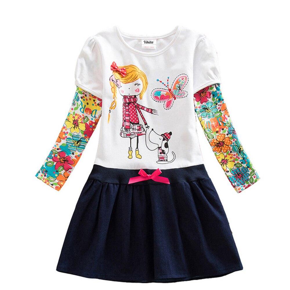 HTB1SZhlQrvpK1RjSZFqq6AXUVXaS VIKITA Girls Dress Long Sleeve Kids Flower Dresses Children Unicorn Vestidos 2019 Girls Dresses Autumn Kids Dress For Girl