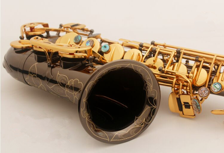 New Saxophone Alto High quality instruments French SELMER model SAS-R54 Gold And black nickel saxophone Complete accessories sas 54 alto saxophone instrument drop e flat alto saxophone matte black gold flamingo black nickel gold sax free shipping