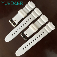 YUEDAER White Rubber Band For Casio Watch Strap For