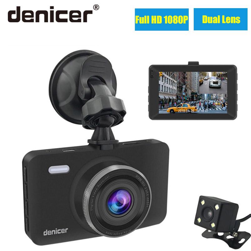 Denicer Car Dvr Camera 3.0 Screen Full HD 1080P 30fps Dual Lens with Rear View Dashcam Auto Registrar Car Video Recorder DVRs