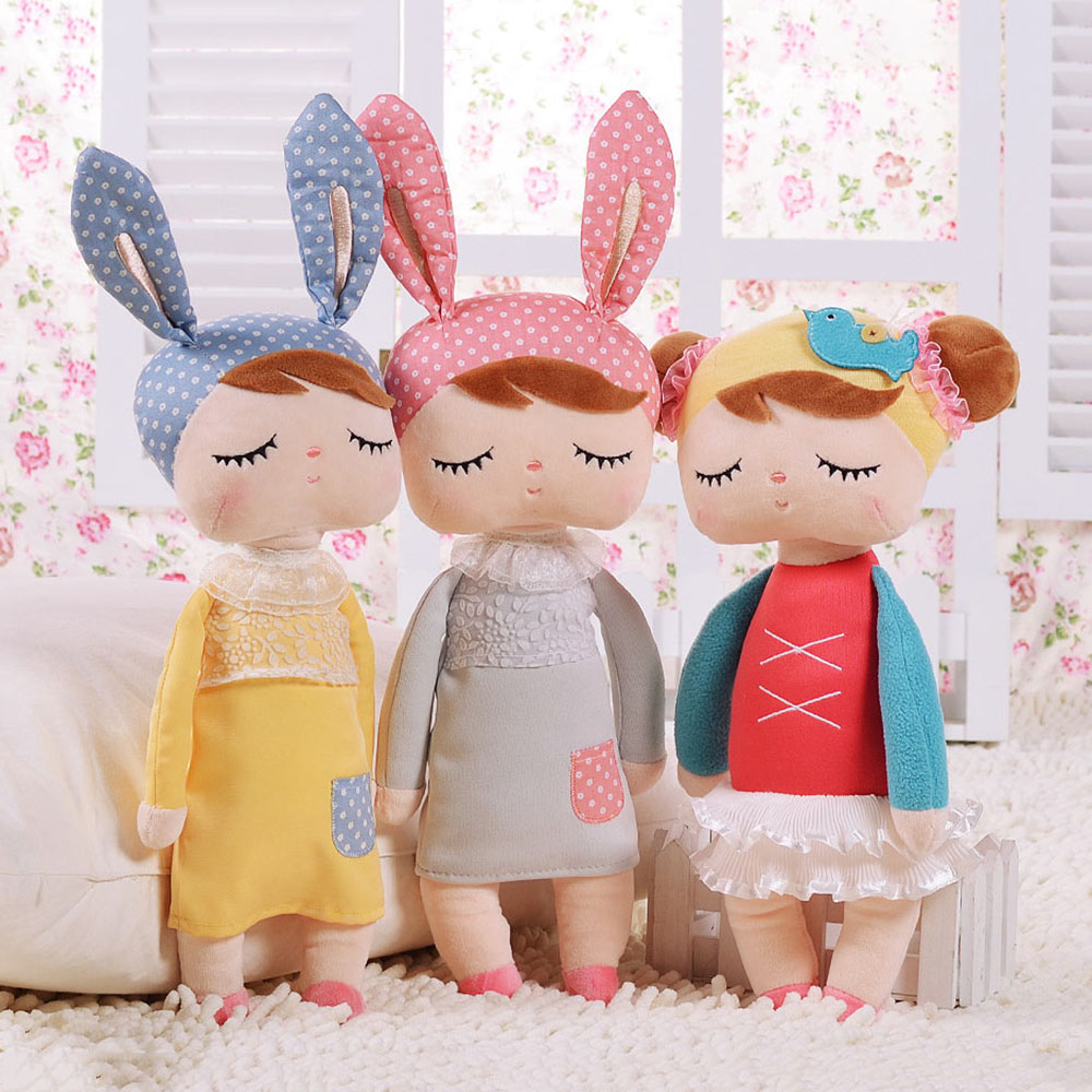 Hot Metoo Plush Stuffed Animal Cartoon Kids Toys for Girls Children Baby Birthday Gift Angela Rabbit Girl Doll Cute Stuffed Toys cartoon cute doll cat plush stuffed cat toys 19cm birthday gift cat high 7 5 inches children toys plush dolls gift for girl