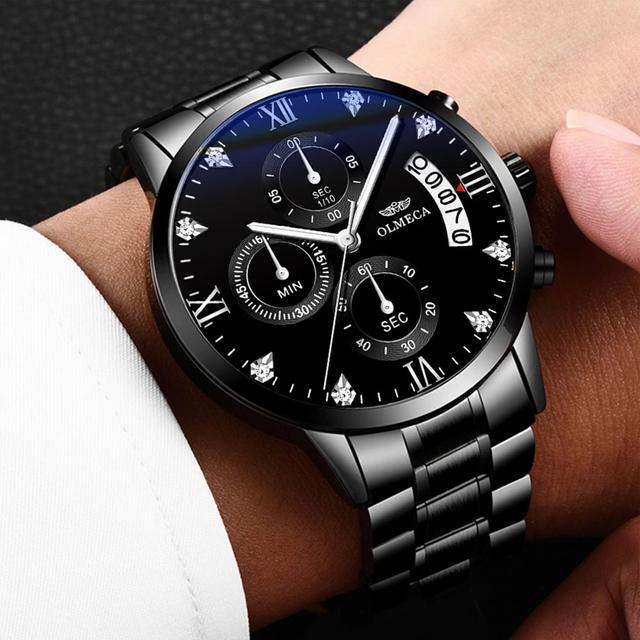 OLMECA Top Brand Luxury Men Watches Military Quartz Wristwatches Fashion Relogio Masculino Famous Sports Dress Mens Watch Clock