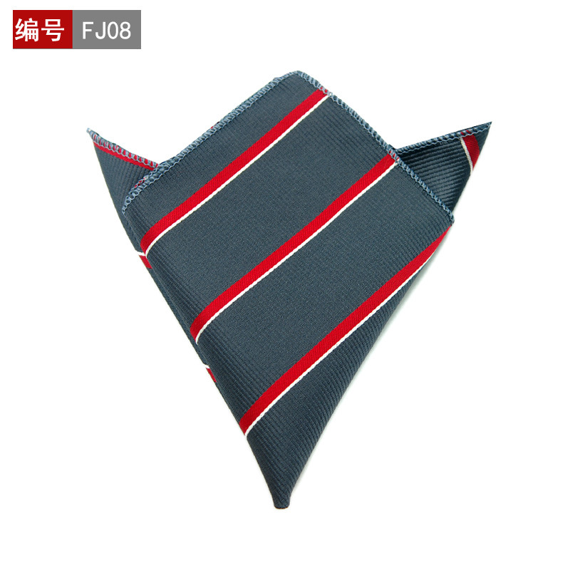 Striped Dot Mens Handkerchiefs Brand Classic Polyester Pocket Towel Hanky Formal Business Suits Chest Towel Gifts