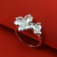 999 sterling silver ring national wind butterfly ring female character index finger silver restoring ancient ways