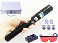 The Most Powerful Burning Laser Torch X9 445nm 80000m Focusable blue laser pointer burn paper Light Cigarette free shipping