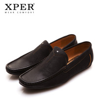 2016 XPER Mens Loafers Flats Moccasins Men Shoes Slip-on Casual Business Shoes Brown Square Toe Brown YM86830BL