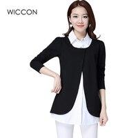 Elegant OL Blouses Women 2017 Spring Autumn New Fake Two Piece Women S Shirt Plus Size