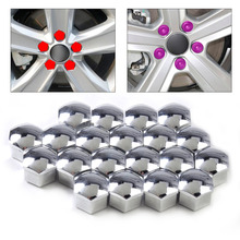 DWCX New Silver 20Pcs Wheel Lug Bolt Center Nut Covers Caps 321601173A for Audi A4 A6 A8 Q5 Q7 VW Jetta Golf Skoda