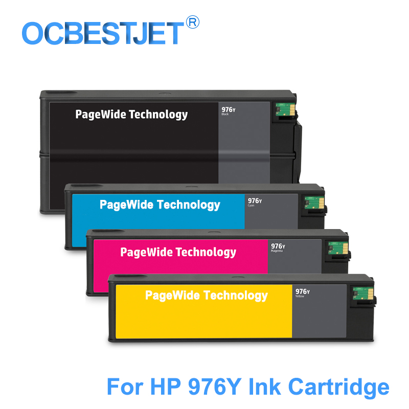 For HP 976Y 976 Y Replacement Ink Cartridge Compatible For HP PageWide Pro 552DW 552DN 577DW 577Z P55250DW MFP P57750DW Printer 6pk 33xl compatible ink cartridge for xp530 xp630 xp830 xp635 xp540 xp640 xp645 xp900 t3351 t3361 t3364 for europe printer