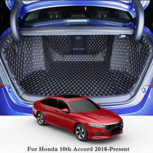 купить For Honda 10th Accord Turbo/Hybrid 2018 2019 Car Boot Mat Rear Trunk Liner Cargo Floor Carpet Tray Protector Accessories Mats по цене 7919.11 рублей