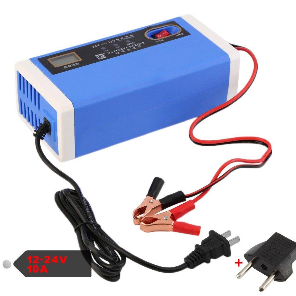 12V 24V Car Charger Dry Wet Lead Acid Power Supply 12V 10A Motorcycle Motor Car Battery Charger 12V/24V 10A for 60AH 100AH 200AH