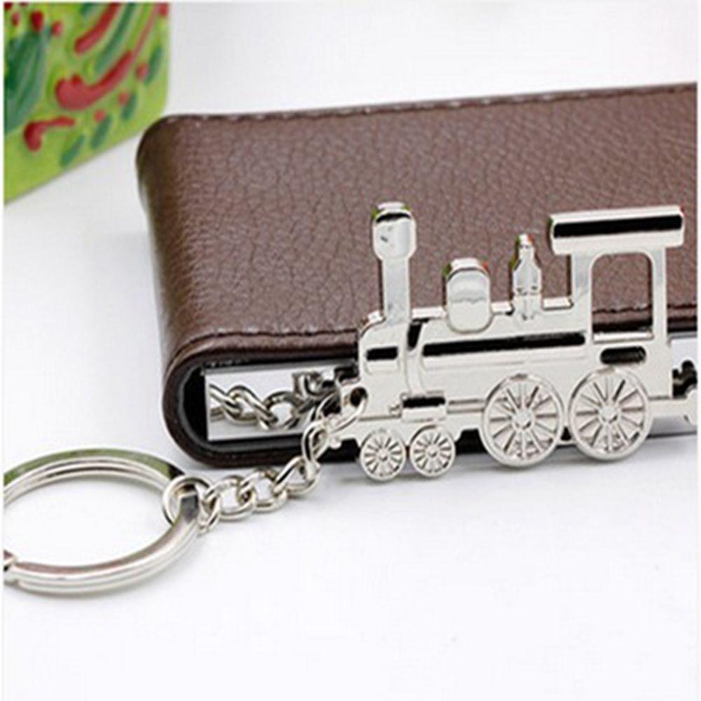 Модный креативный паровой Поезд Локомотив дизайн металлический брелок для ключей в стиле панк Рок автомобильный брелок для ключей