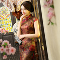 2017 Summer Fashion Vintage Long Cheongsam Qipao Tops S-XXL Plus Size Chinese Tradition Evening Dress Vestido Women's Clothing