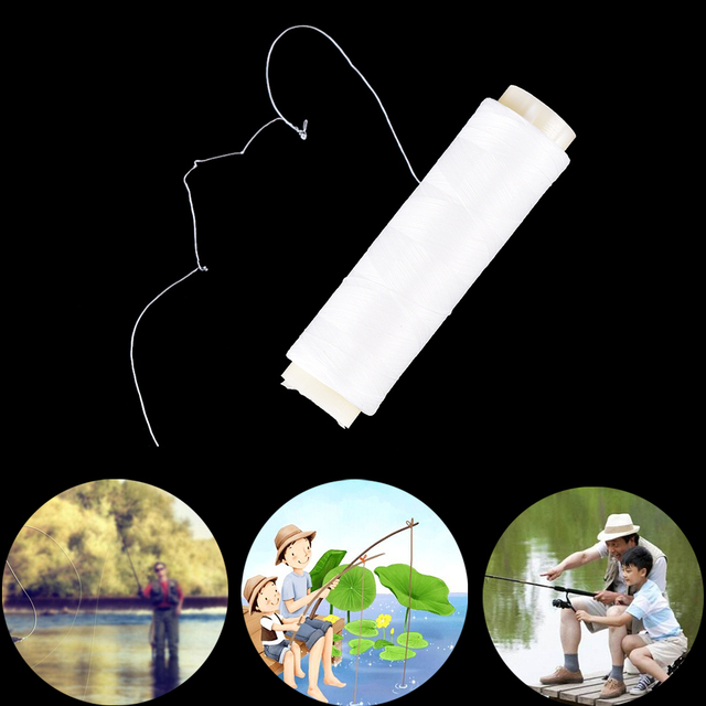 2018 New High Tensile Bait Elastic Thread Spool Dead Baits Sea Fishing Tackle 200M/656FT Invisible Fishing Bait Line
