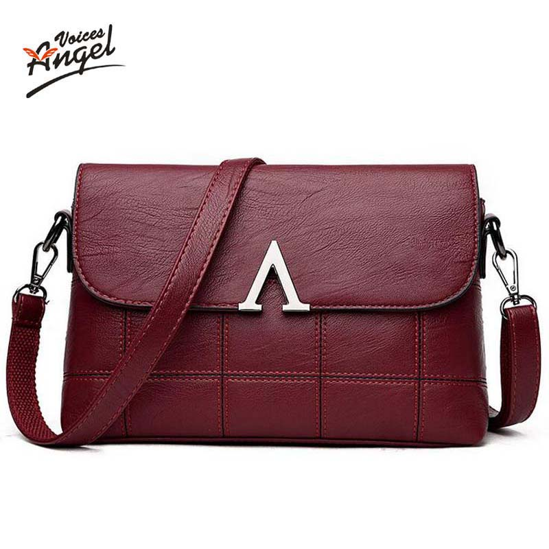 Angel Voices Women Messenger Bags Crossbody New 2017 Fashion Women Bag Luxury Soft PU Leather Famous Brands Designer Handbag 4sets herringbone women leather messenger composite bags ladies designer handbag famous brands fashion bag for women bolsos cp03