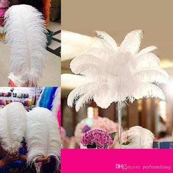 Factory 10 colors Hot Sell 20-45cm(8inch~18inch) DIY Ostrich Bulk Feather Plumes for Wedding centerpiece table centerpiece