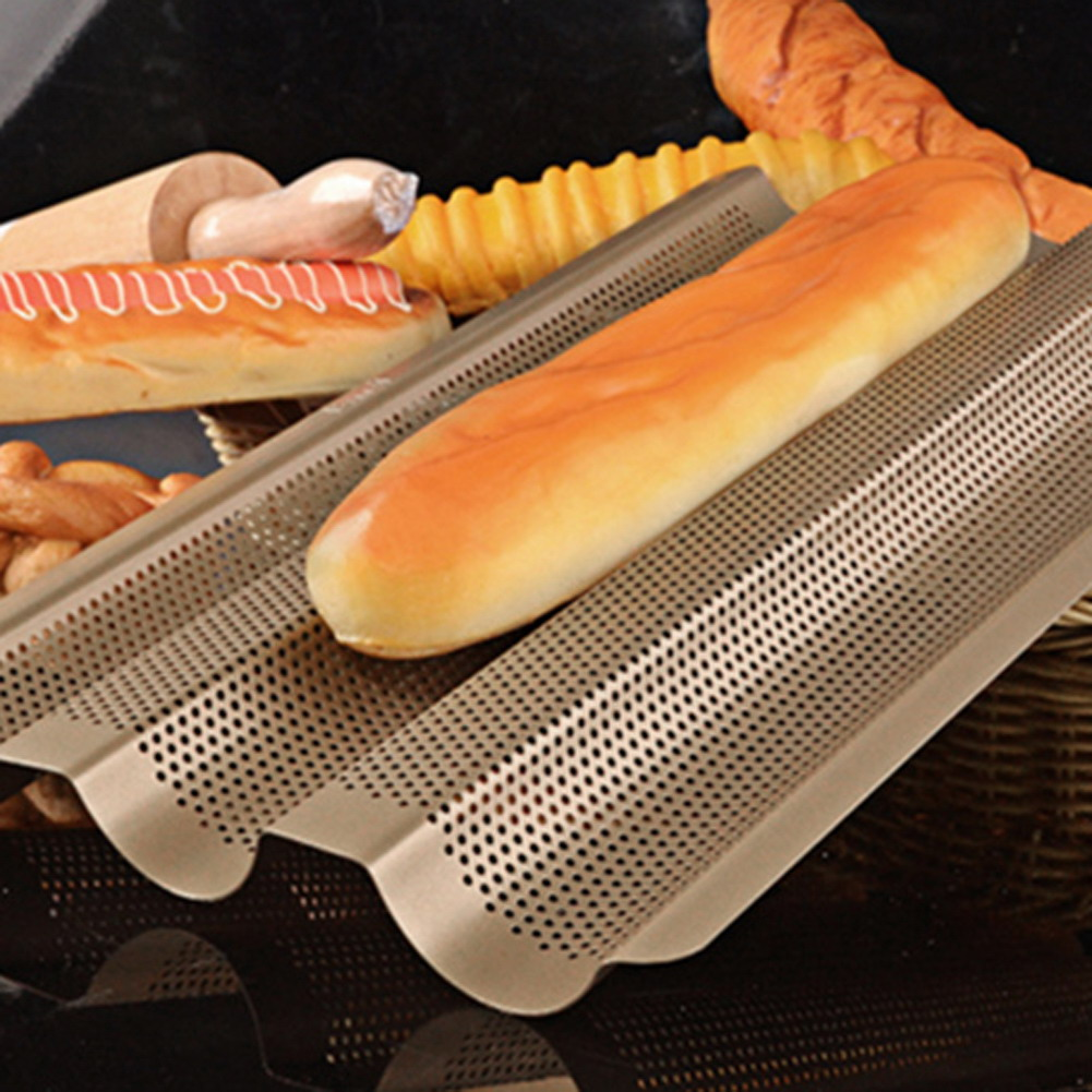 Bread Baking Mould Carbon Champagne Steel French Baguette French Baking Mold Bread Loaf Pan Pastry Tools Kitchen Baking Mould