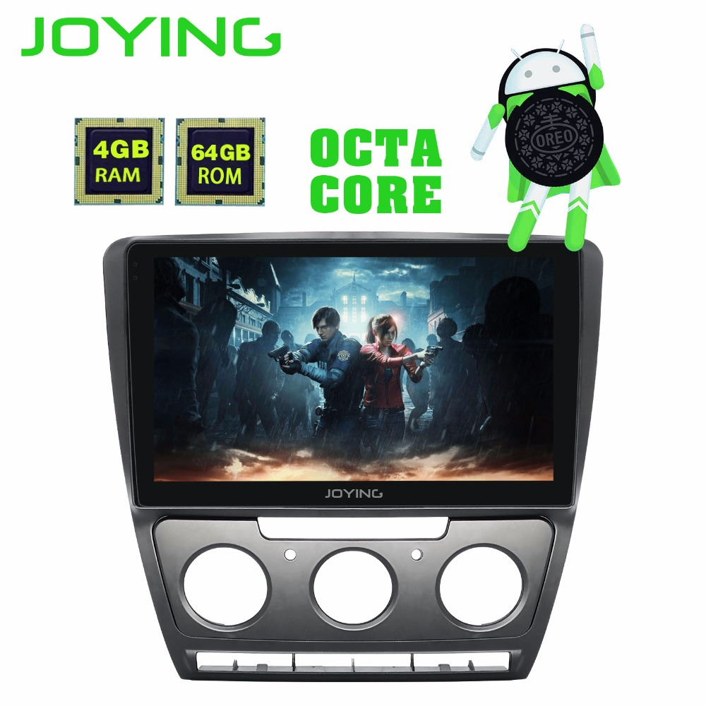 JOYING Android 8 0 4GB+64GB 2 din car radio for volkswagen Skoda Octavia  2007-2014 10 1 inch IPS screen GPS Navi stereo for VW
