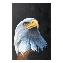100% Hand painted Golden realistic eagle Art Oil Painting On Canvas Wall Pictures For Live Room Home Decor
