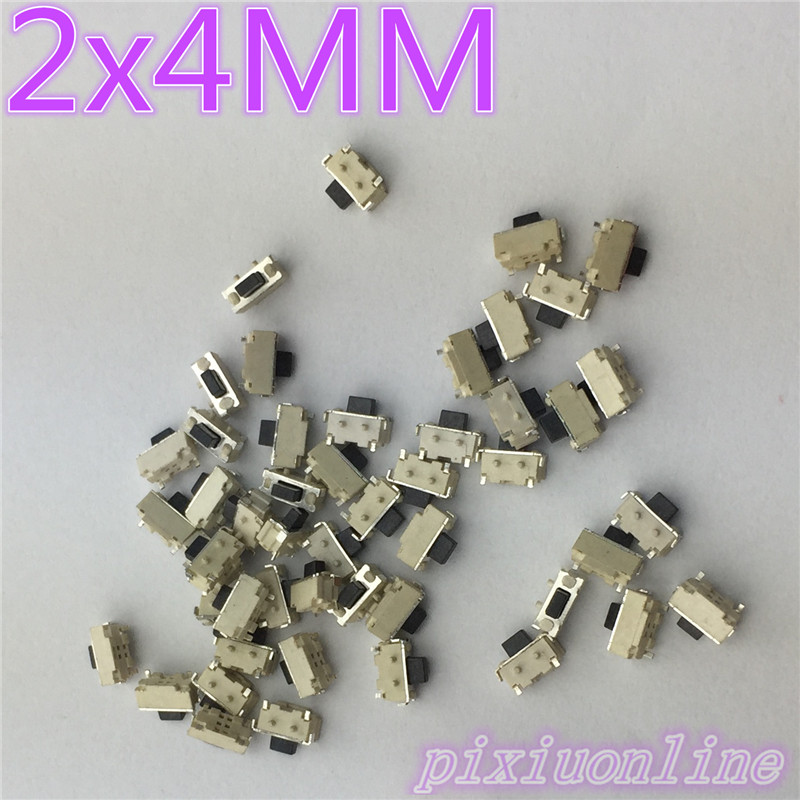G72Y High Quality 50pcs SMT 2x4MM 2 PIN Tactile Tact Push Button Micro Switch G72 Self-reset Momentary Hot Sale 2017 800 wires soft silver occ alloy teflo aft 2 5mm earphone cable for shure se535 se846 ln005663