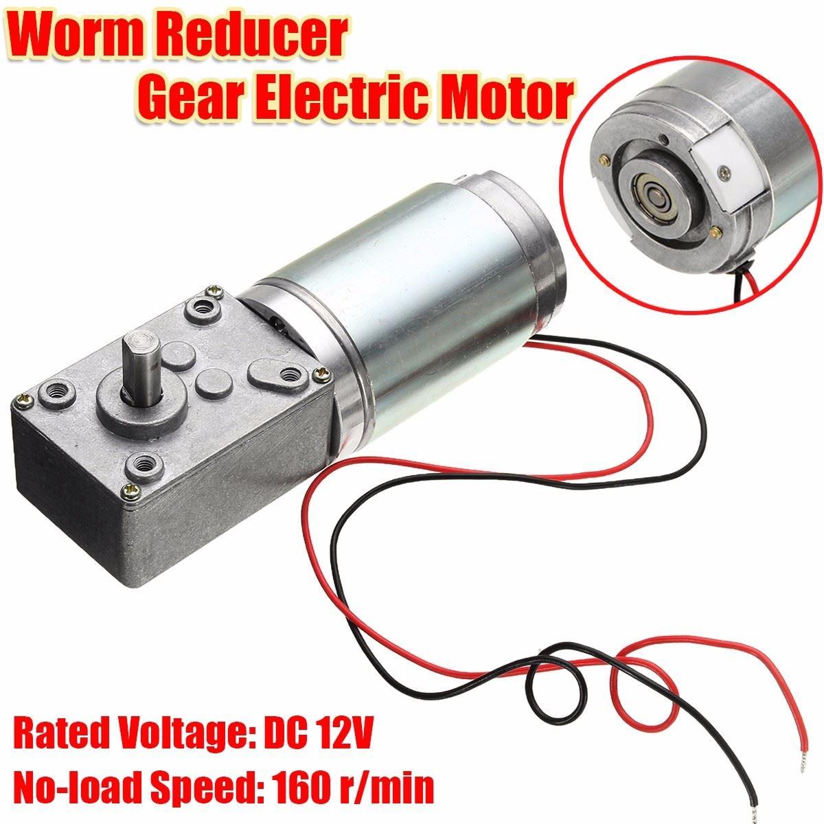 1PCS DC12V 160rpm Worm Reducer Gear Electric Motor High Torque W/Reduction 10 kg.cm Small Volume  цены