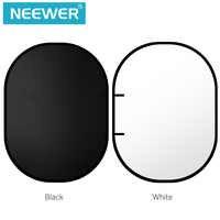Neewer noir/blanc Double-face Pop-Out toile de fond en mousseline-78.7x59 pouces/200x150 centimètres fond rond pliable