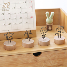 3/5pcs Vintage Wood Card Message Holder Photo Stand Desktop Memo Note Clip Card Holder Office Stationery Decoration Accessories