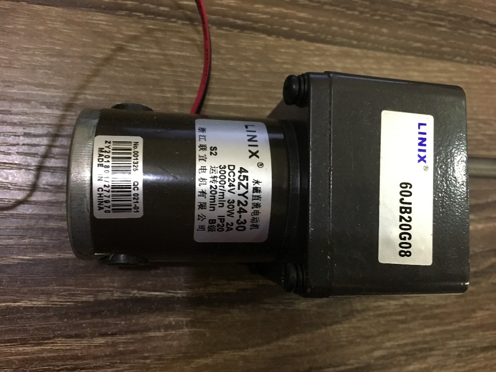 Décélération moteur à courant continu moteur LINIX à moteur 45ZY24-30/60JB20G moteurs à courant continu nouveau original