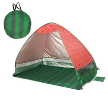 Widesea new pop up beach tent watermelon beach sunshelter UV-protective quick automatic open fishing hiking and camping gazebo
