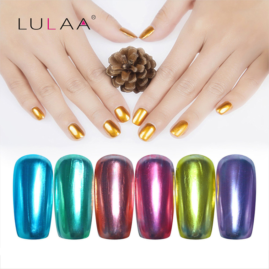 Mirror Effect Gel Nail Polish: LULAA 10ML Gorgeous Mirror Effect Metal Multi Color Paint