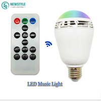2 In 1 Music LED Bulb Lamp E27 Wireless Bluetooth 4 0 Speaker Player Sound Box