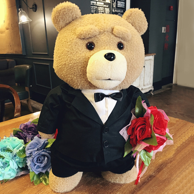 8 styles Movie Teddy Bear Ted 2 Plush Toys In Apron Soft Stuffed Animals Plush 45cm A birthday present for a good friend image