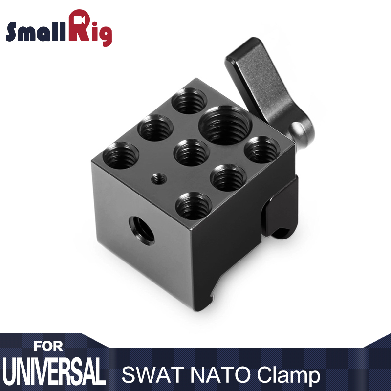 "SmallRig Quick Release SWAT NATO Clamp with 1/4 ""and 3/8"" Lubang Mounting Standard untuk Monitor Microphone Attach - 1255"