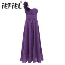 IEFiEL vestido de gasa de verano para niñas, vestido elegante de dama de honor para niños pequeños, concurso de belleza, boda de novias