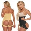Hot high waist butt shaper womens knickers butt lifter waist tummy control booty enhancer lace push up panties black nude